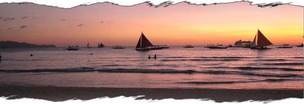 beautiful sunset in Boracay