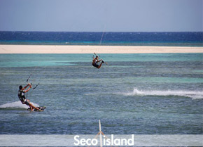 Catamaran trips to Seco island - perfect to land new tricks !
